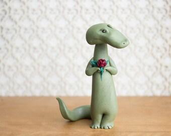 Alligator Figurine by Bonjour Poupette
