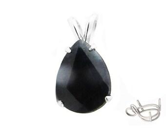 Pendant Sapphire Black Sapphire Australian Sapphire 4.50 carat Jewelry 14K gold Gold Birthstone September
