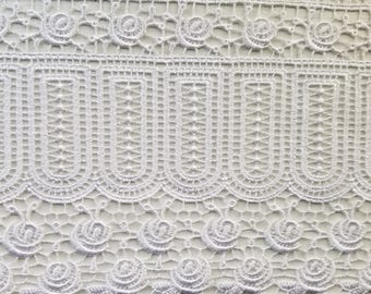 Venice lace in white for couture, apparel, home decor,  table cloths and embellishments 15  yards wholesale