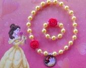 Princess Belle Stretch Necklace and Bracelet