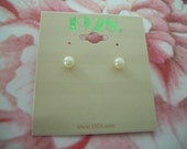 Pearl Stud Earrings by 1928 Company (NOS)