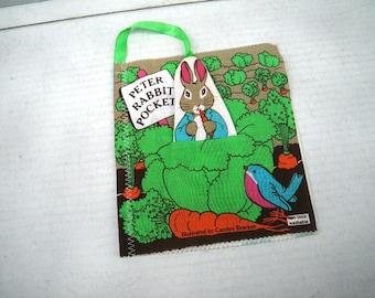 1982 Peter Rabbit Pockets Stuffed Toy Childrens Cloth Book