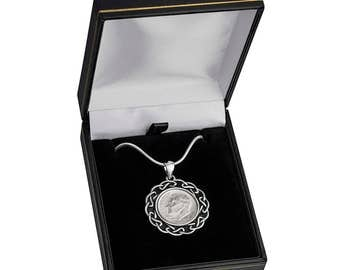 Vintage jewelry 77th Birthday Gift - 1941 US  Silver Coin Pendant-  Birthday jewelry