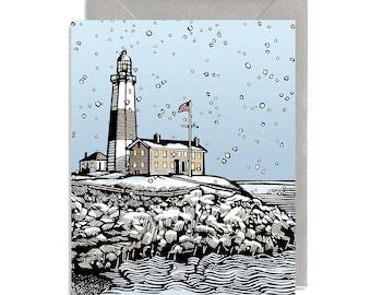 Light House in Snow