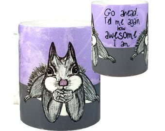 Awesome Squirrel Mug by Pithitude