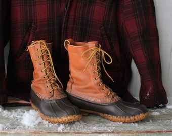 Vintage LL Bean Maine Duck Boots Hunting Boots Mens Sz 8