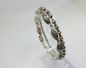 Premier Designs Silver tone Bracelets lot of 2 Casual and Detailed Chain bracelets