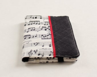 Sheet Music Women's Wallet; Black and Red Music Wallet; Piano Music Wallet - READY to SHIP
