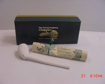 Traditional Irish Claypipe Clay Pipe Presentation Giftbox Tobacciana Ireland  17 - 606