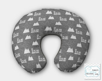 Kid You Will Move Mountains MINKY Boppy Cover- Designer Minky Change pad Cover- Designer Minky- Crib Sheet- Mountains Crib Sheet-