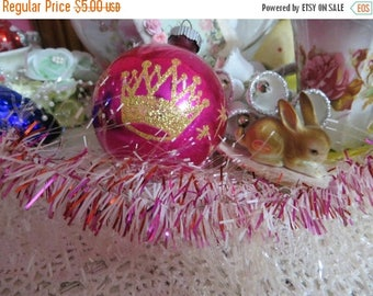 Store Closing SALE Vintage Pretty Pink Tinsel-3 feet