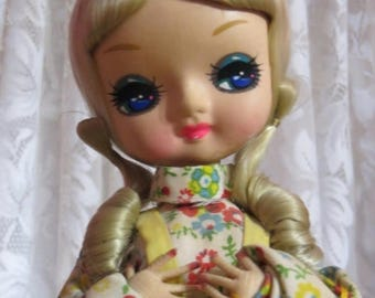 Going Out Of Business Vintage Big Eye Kawaii Bradley Doll-Storybook Series-Mary Mary -1960's 70's