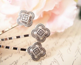 Medieval floral bobby pins-medieval-shabby chic-steampunk-Victorian V058