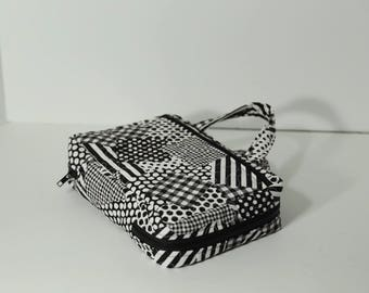 Bible Case in Black & White geometric patchwork