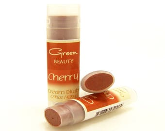 Cream Blush, Cherry, Natural Cosmetics, Cheek Stain, Cheek Blush, Makeup, Lip Stick, Natural Blush, Blush, Mineral Blush