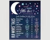 Gender Reveal Wives Tales - Poster - Twinkle Twinkle Little Star - Gender Reveal Party - DIY Printable or Printed Copy -  #00124-OWT