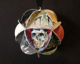 Grateful Dead Album Cover Ornament Made Of Record Jackets - Jerry Garcia