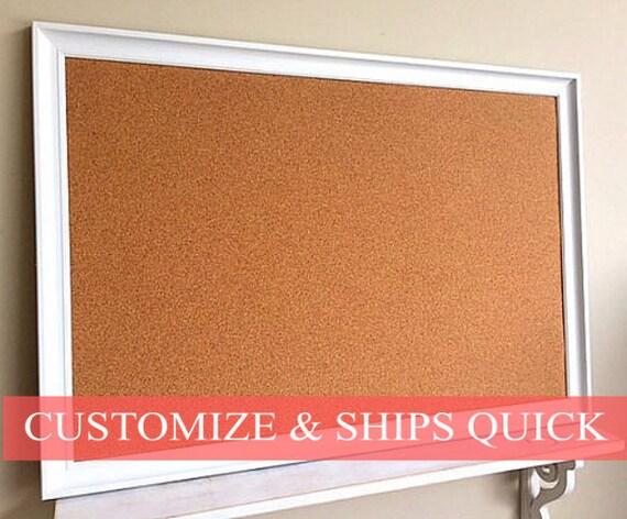 Modern framed cork board christmas gift for boss kitchen for Modern cork board