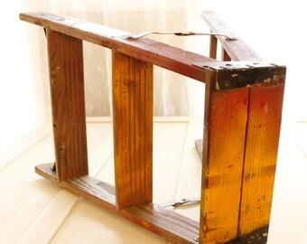 Vintage Step ladder Primitive Decorative Rustic Ladder, Vintage Step stool, Vintage Plant Stand, Ombré Top Wood Step ladder, Home & Living
