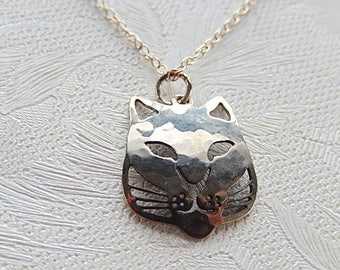 Wild Bryde Necklace, Cat Pendant, Gift for Her