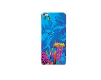 iPhone 6 case iphone 6S case iphone 6 plus case iphone 7 case iphone 7 plus case cover ocean dolphin fish sea weed coral reef marine world