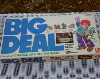 The Big Deal vintage 1977 board game of wacky business ventures and crazy opportunities for ages 8 and up by Lakeside of Minnesota