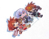 Kingdom hearts chibi sticker set of 3