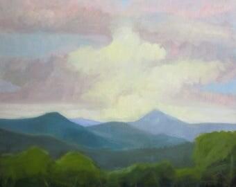 Original Oil Painting Blue Ridge Mountain View