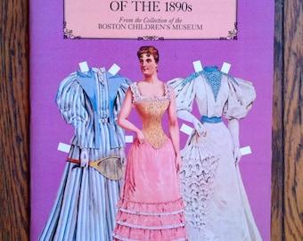 Vintage 1984 Antique Fashion 1890s Paper Dolls Unused