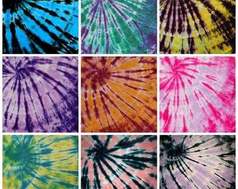 Tie Dye Bandanna | 100% Cotton | Festival Clothing | Choose Color | Burning Man | Playa | Etsy