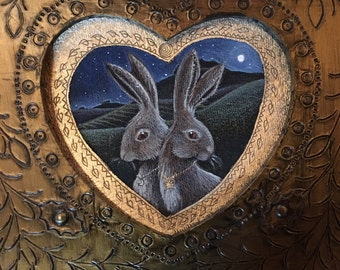 Valentine Hare greetings card