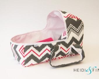OOAK Doll baby carrier LARGE - doll bassinet crib bunting bag baby basket