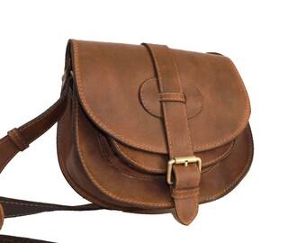 Leather Saddle Bag Leather Messenger Bag Leather Crossbody Bag Leather Purse Leather Handbag Leather Shoulder Bag - Goldmann S antic brown!