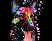 German Shepherd Dog WOMENS TANK TOP  Neon Blacklight Fluorescent T Shirt 20133NBT2