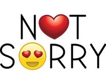 Emoji Not Sorry Unisex Adult Short Sleeve T Shirt 20788HL4