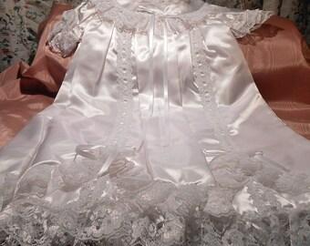 Christening Dress Bonnet Hat Slip Craft Supply doll baby Lace