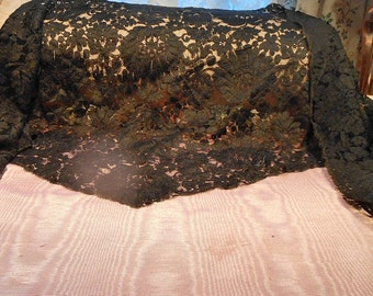 Antique Lace Vintage Lace Victorian Dress Lace Shawl Craft Supply