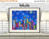 50% Off Today- Seattle art Art Print Poster by Heather Galler (HG827)