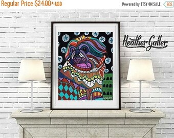 50% Off Today- Pekingese Art dog  Art Print Poster by Heather Galler (HG749)