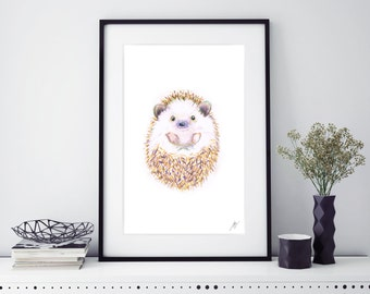 Happy Little Hedgehog Illustration