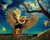 Owl Art - The Firefly Kingdom - 8x10 print