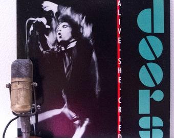 "ON SALE The Doors (with Jim Morrison) Vinyl LP Record Album 1960s Classic Rock ""Alive She Cried:Live"" (Original 1983 Elektra w/""LIght My Fir"