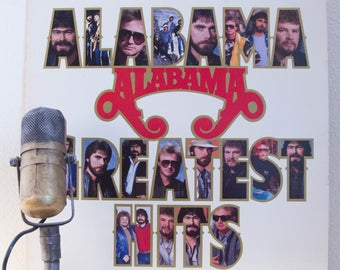 """ON SALE Alabama Vintage Vinyl LP Record Album 1980s Country Pop Harmony """"Greatest Hits""""(1986 Rca w/""""Mountain Music"""" & """"Love In The First Deg"""