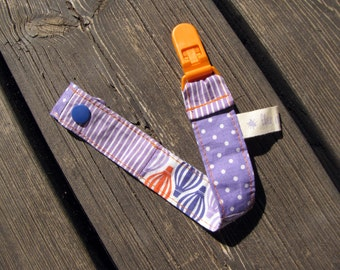 pacifier holder, pacifier clip, purple baby bedding, dummy clip, unisex baby gifts, patchwork gift, baby clip, baby pacifier clip, purple