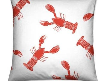Handmade Nautical Lobster Cushion Covers
