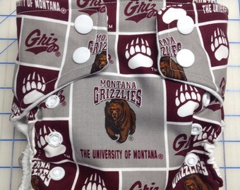 University of Montana Inspired Cloth Diapers/Diaper Cover