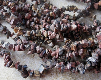 "Leopardskin Jasper Chip Beads, Bead Supply, Necklace Design, Gemstone Beads, Jewelry Making Beads, Full Strand, Endless Loop, 34"" (1)"