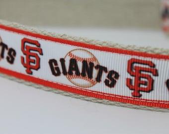 San Francisco Giants hemp dog collar or leash