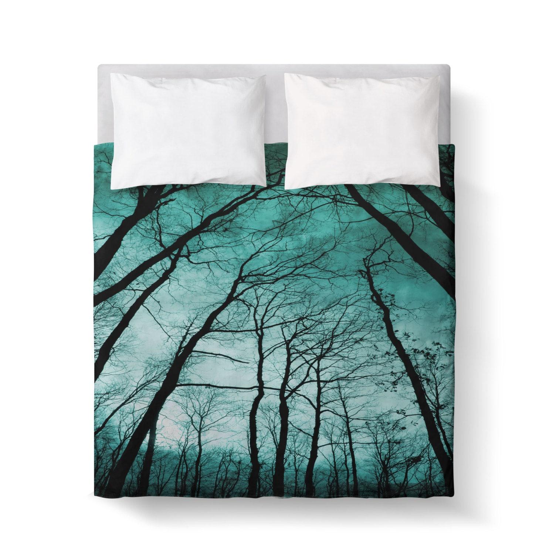 Teal Black Forest Duvet Cover Bedding forter Cover