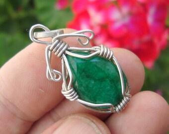 emerald necklace emerald pendant
